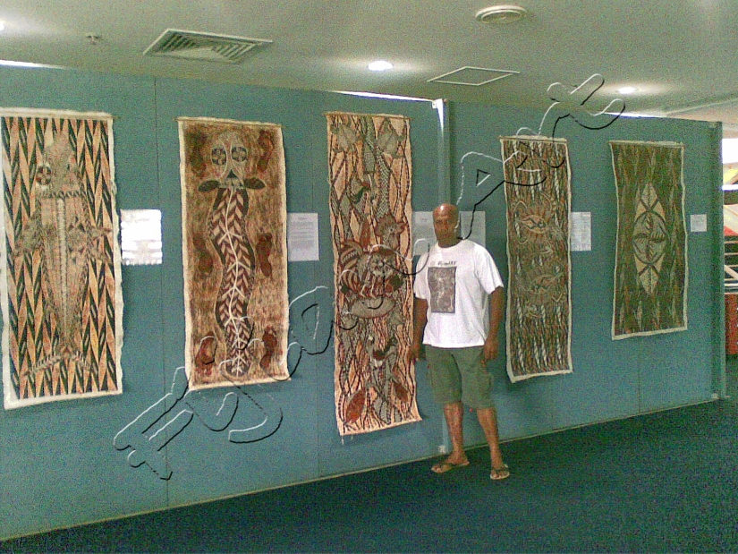 Traditional Fijian Art Painting by Nelson Salesi